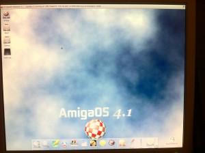 AmigaOS running