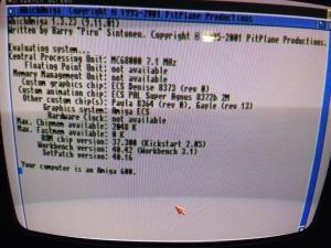Amiga 600 booted